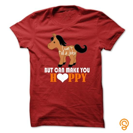 adjustable-horse-i-cant-tell-a-joke-but-can-make-you-happy-tee-shirts-sale