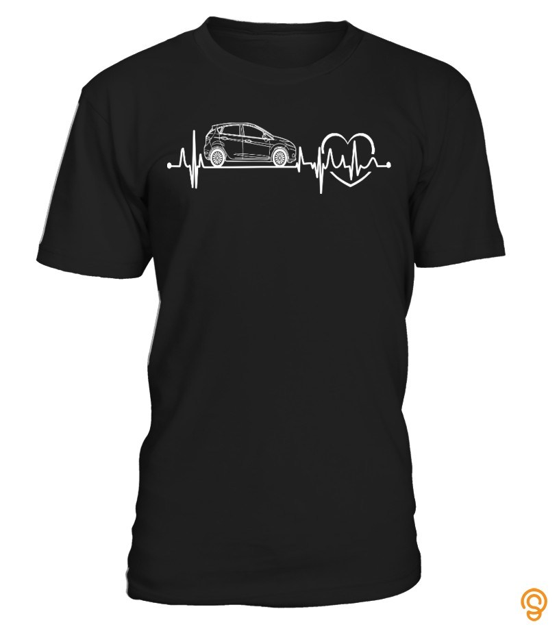 Ford Fiesta Car In My Heartbeat T Shirt