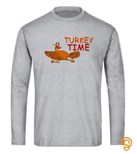 Turkey Time Turkey Pilgrim Funny Thanksgiving Gobble Tshirt   Hoodie   Mug (Full Size And Color)