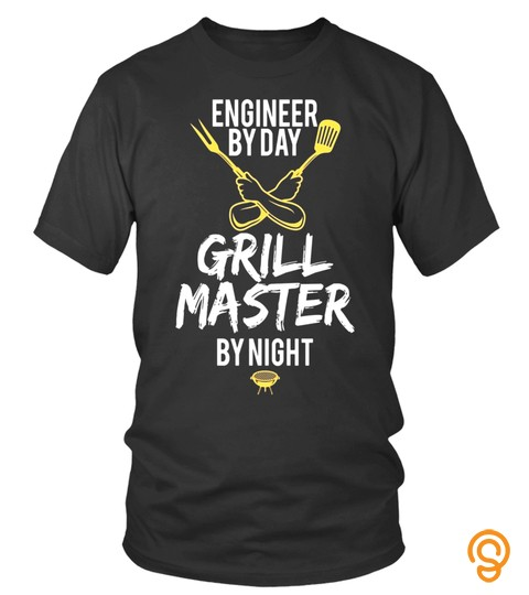 Grill Bbq Master Engineer Funny Barbecue Gift T Shirt