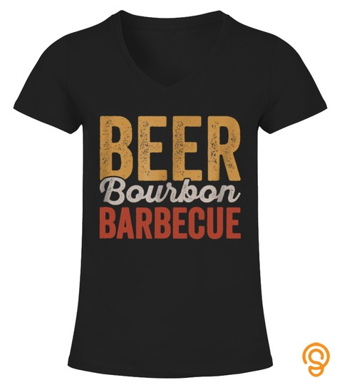 Beer Bourbon Bbq Shirt For Backyard Barbecue Grilling Dad