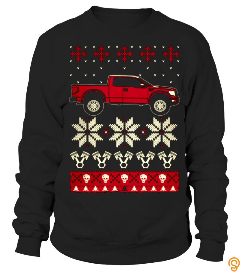 Festival Raptor Car Ugly Christmas Sweater T Shirts Material