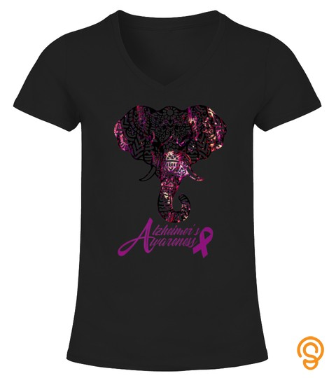 Elephants Alzheimers Awareness Purple Graphic Tshirt   Hoodie   Mug (Full Size And Color)