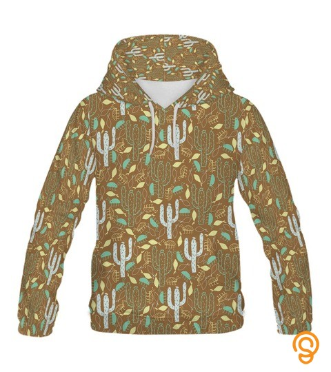 Cactus Insect Pattern Hoodie