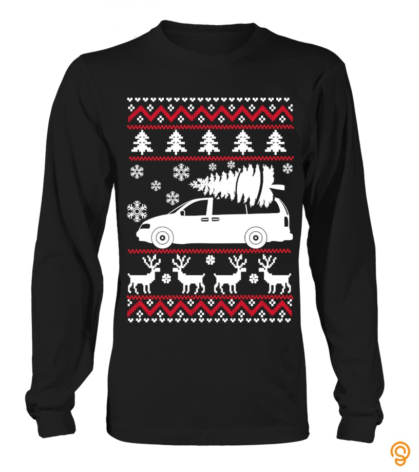 Refined Pontiac Sunfire Ugly Sweater Tee Shirts Material