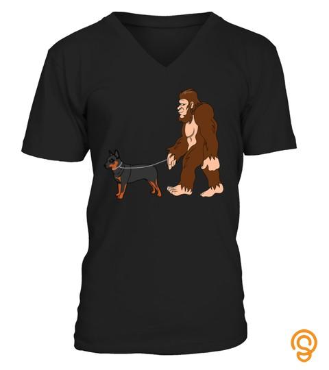 Bigfoot Walking Australian Cattle Dog Shirt Ufo Believer Tshirt   Hoodie   Mug (Full Size And Color)
