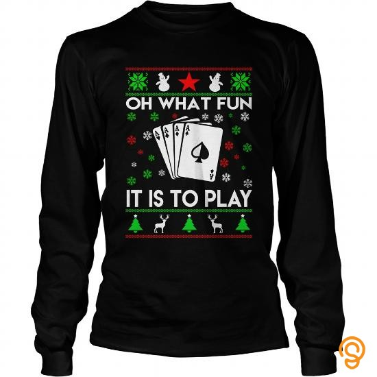 Model  Poker Oh What Fun It Is To Play  T Shirts Design
