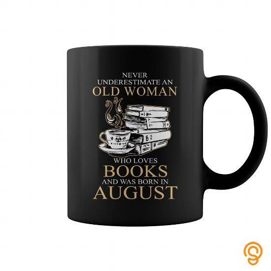 Easy Wear Never Underestimate An Old Woman Who Loves Books 08 T