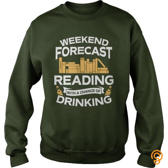 half-priced-weekend-forecast-reading-with-a-chance-of-drinking-t-shirt-tee-shirts-sayings-men