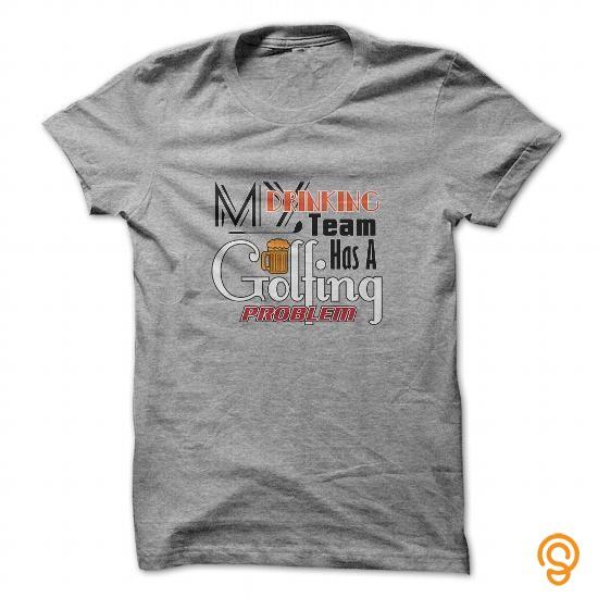 cc8239904b Masculine My Drinking Team Has A Golfing Problem Funny Golf Shirt Tee Shirts  Size Xxl
