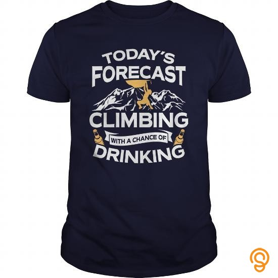 standard-fit-todays-forecast-climbing-with-a-chance-of-drinking-tshirt-tee-shirts-target