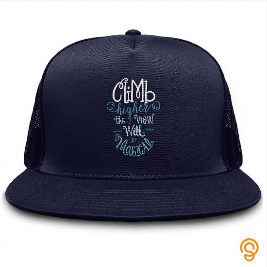 glamorous-climb-higher-cap-tee-shirts-for-adults