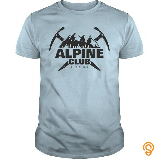 Individual Style Alpine Club Rise Up T Shirts Printing