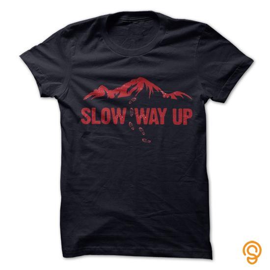 elegant-mountain-slow-way-up-t-shirts-sale