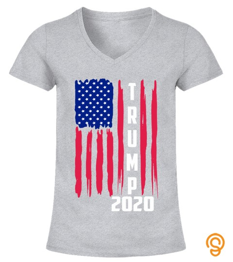 Novelty Trump 2020 America Flag Election 2020 Slogan Gift T Shirt
