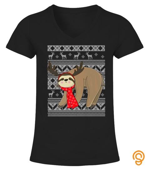 Ugly Christmas Sweater Sloth Shirts Christmas Sloth Tshirt   Hoodie   Mug (Full Size And Color)
