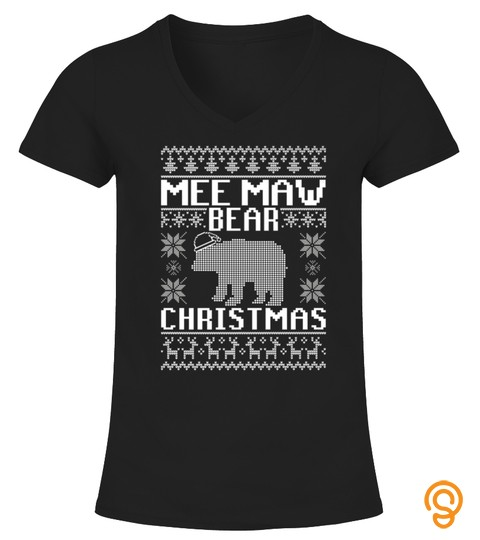 Mee Maw Bear Matching Family Ugly Christmas Sweater Tshirt   Hoodie   Mug (Full Size And Color)