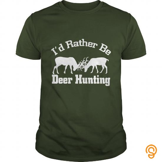 trendy-id-rather-be-deer-hunting-t-shirts-target