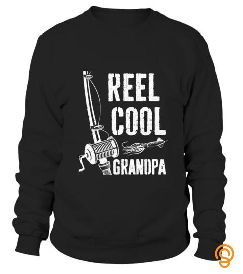 Reel Cool Grandpa T Shirt Fishing Father's Day Gift Shirt T Shirt