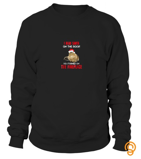 Maine Coon Christmas T Shirt Funny Santa Xmas Party T Shirt 110