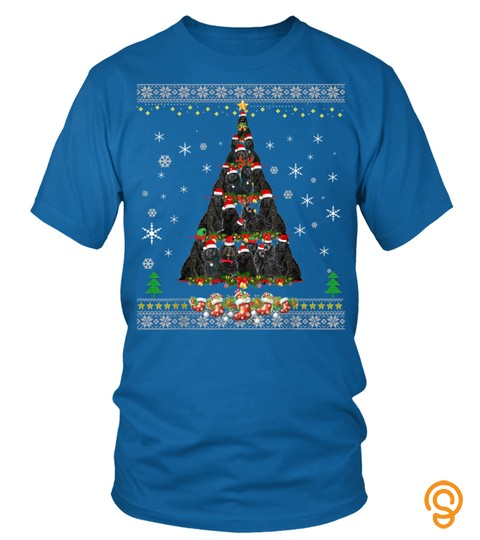 Black Cockapoo Dog Lovers Ugly Christmas Tree Gift Men Women T Shirt