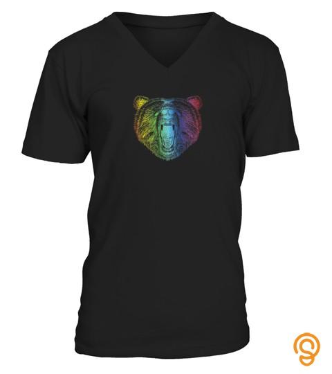 Gay Bear Pride T Shirt Lgbt Rainbow Flag Pride Month Tshirt   Hoodie   Mug (Full Size And Color)