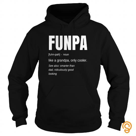 ed42a1d0 Fashionable Funny FUNPA Fun Grandpa Novelty T Shirt Tee Shirts Apparel