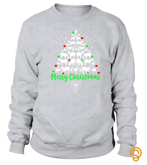 Goat Christmas Tshirt Merry Christmas Goat Lovers Tshirt   Hoodie   Mug (Full Size And Color)