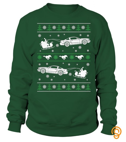Mustang Christmas Ugly Sweater