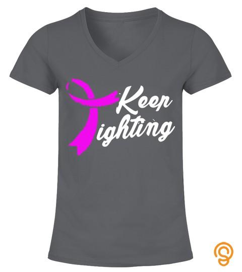 Pancreatic Cancer Violet Ribbon Shirt   Keep Fighting