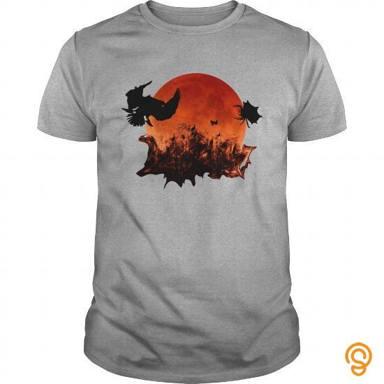 Halloween Blood Moon Ghostly Birds Black Bandana