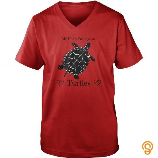 printed-my-heart-belongs-to-turtles-tee-shirts-sale
