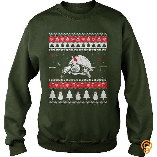 Movement Turtle Ugly Christmas Sweater Tee Shirts Material