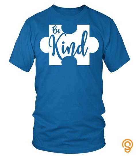 Be Kind Puzzle Piece Autism Awareness T Shirt Sweatshirt