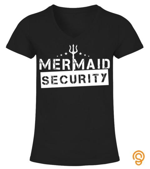 Mens Mermaid Security Shirt New Daddy Merdad Gift For Men