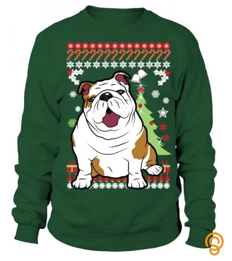 English Bulldog Christmas Sweater