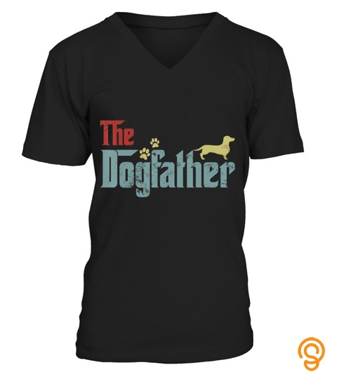 Vintage The Dogfather Dachshund Funny Dog Owner Gifts T Shirt