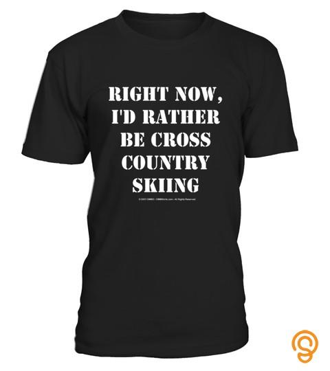 Ski Skiing Skier Surf Board Cross Slopes Winter Surfing Surfer Shirt