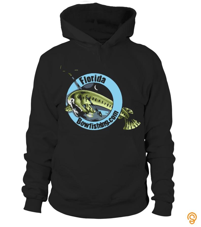 Fashionable Large_Florida_Bowfishing Tee Shirts Buy Now