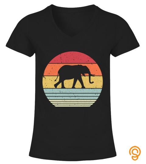 Retro Elephant Long Sleeve T Shirt 09