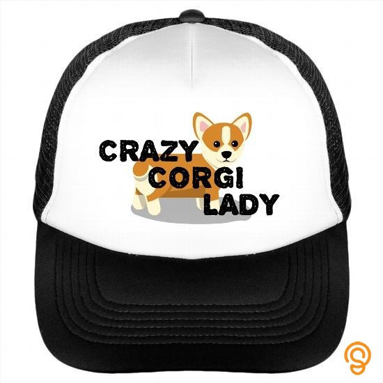 Relaxed Crazy Corgi Lady hat Dogs Corgis Trucker Cap T Shirts Graphic