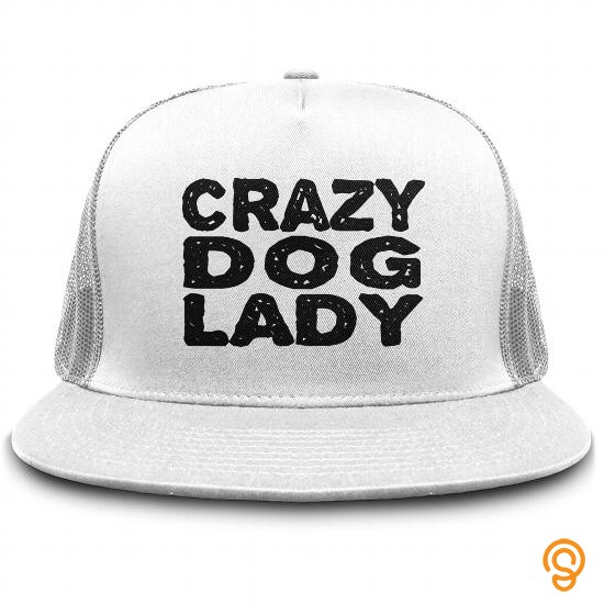 Fashion Crazy Dog Lady Hat Funny Dogs Trucker Cap Hats T Shirts Sayings Women