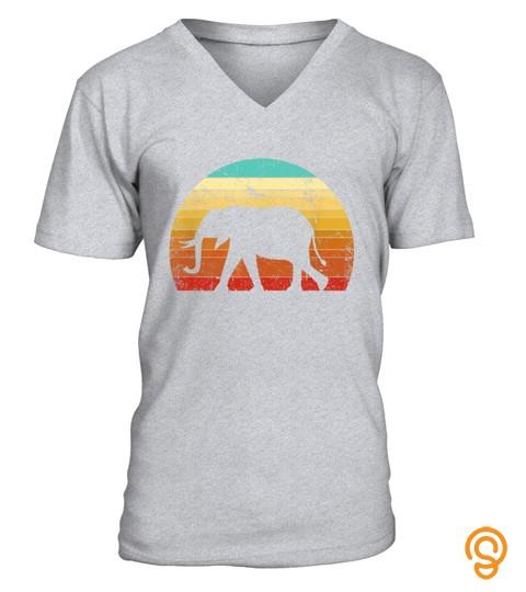 Elephant Shirt. Retro Style T Shirt 03