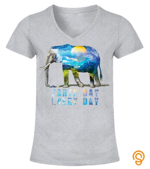 Elephant Earth Day T Shirt Elephant Lover Gift Shirt