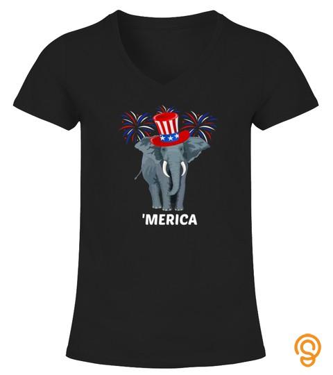 Elephant 4Th Of July Usa Patriotic Gift Premium Tshirt