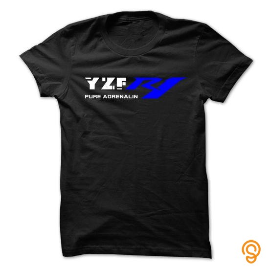 Overall Fit YZF R1 Pure Adrenalin Tee Shirts Printing