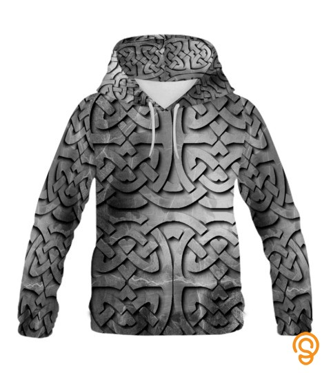 Celtic Knot Greyscale Hoodie