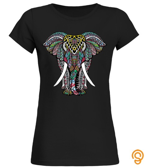 Mandala Ganesha African Elephant T Shirt