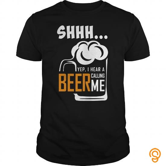 Funky SHHH ... BEER CALLING ME Tee Shirts Design