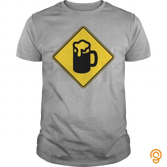 Cutting-edge Warning Sign Beer   Men's T Shirt T Shirts Printing